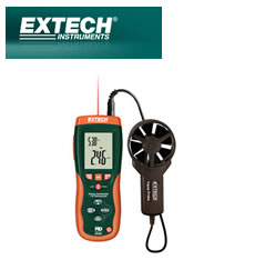 HD300: CFM/CMM Thermo-Anemometer with built-in InfaRed Thermometer