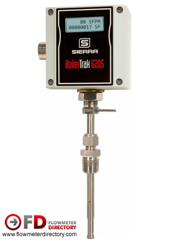 BoilerTrak 620S-BT Insertion Thermal Mass Flow Meter for Boiler & Heater Efficiency