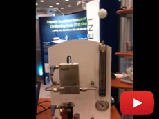 Brooks Instrument Ping Pong Demo at Intersolar North America