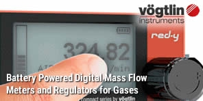 Battery powered digital mass flow meters for gases red-y compact 2 series